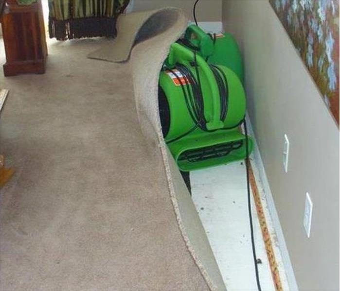 Water Damage Restoration in Rancho Cordova Before