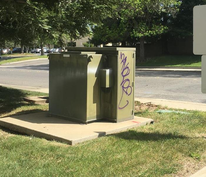 Graffiti Clean Up - Rancho Cordova Before