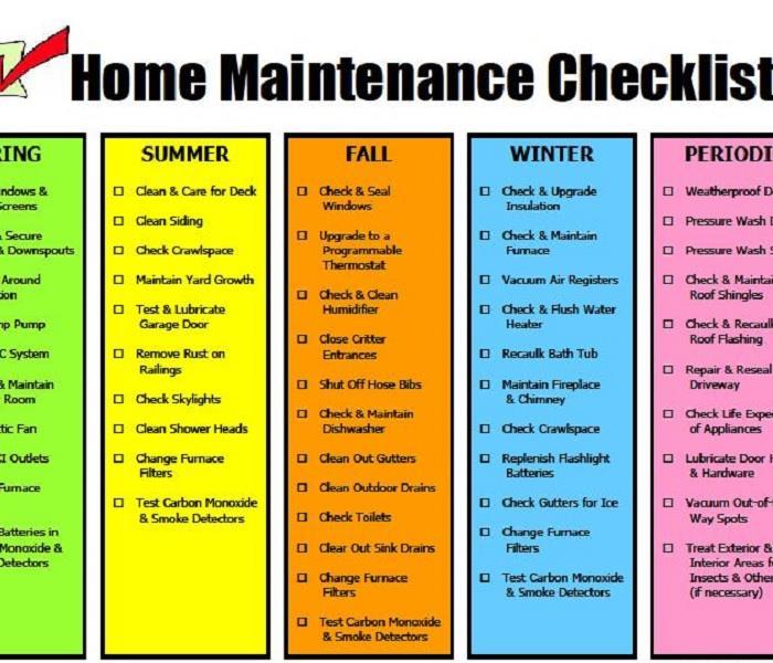Home Maintenance Checklist | SERVPRO of Rancho Cordova